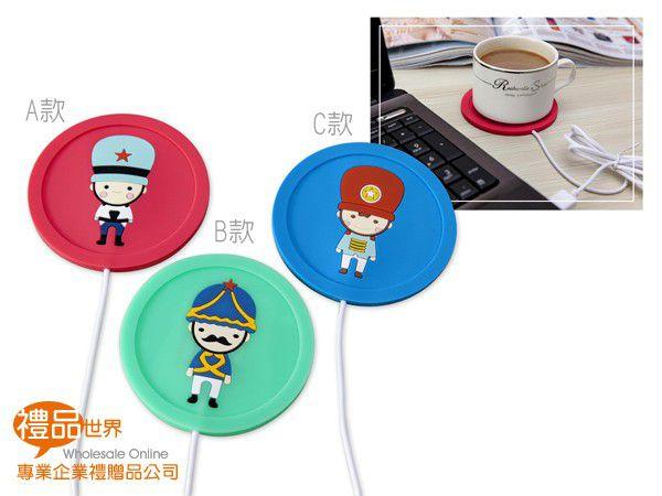 可愛娃娃兵USB保溫杯墊