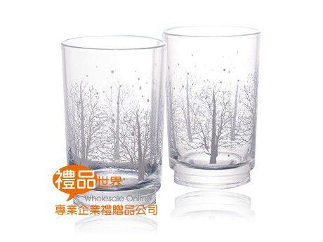 晶透雪花玻璃杯300ml(兩入組)