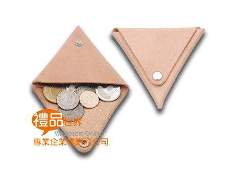 牛皮三角零錢包