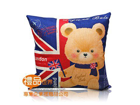 貝爾熊英倫風抱枕