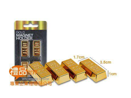 金采金條磁鐵組(4入)