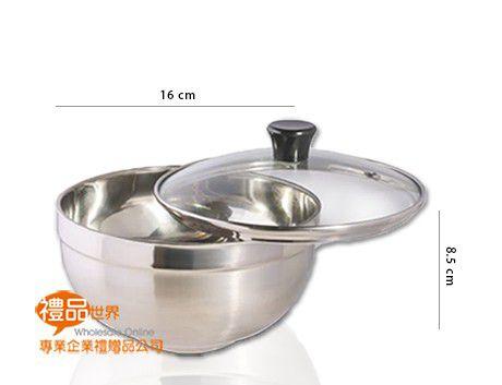 透蓋雙層不鏽鋼湯碗