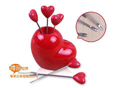 滿滿愛心水果叉(5入)