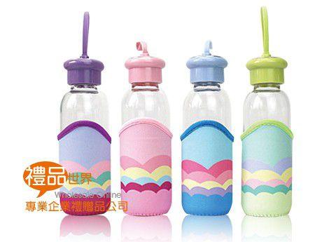 彩虹耐熱玻璃瓶400ml