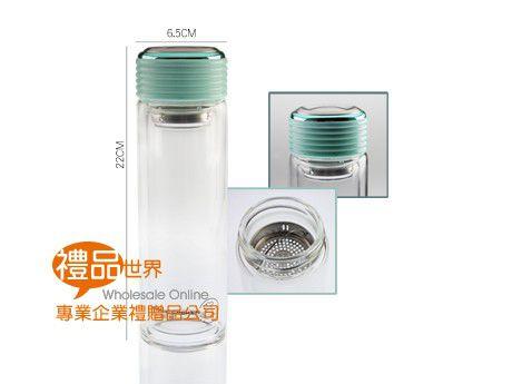 雙層玻璃隔熱水瓶400ml