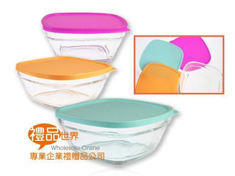 方形3色繽紛玻璃禮盒組