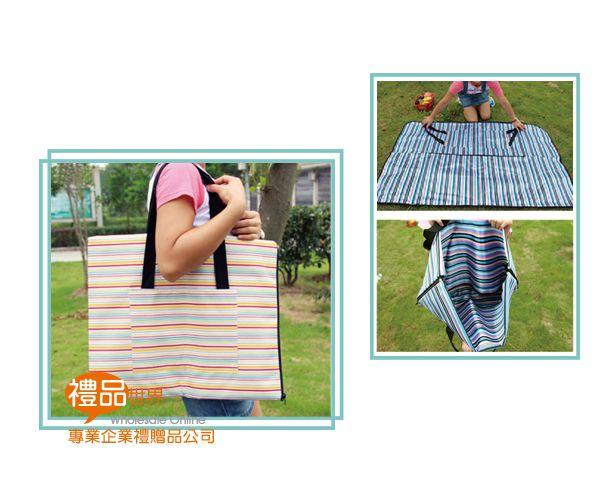 兩用野餐墊購物袋