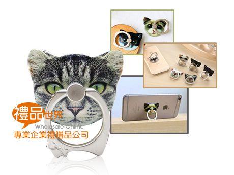 可愛貓咪手機指環支架