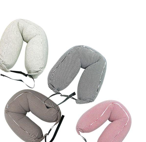 條紋可扣式微粒子頸枕