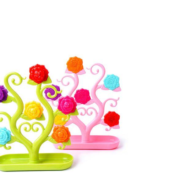 彩色玫瑰磁鐵便籤座