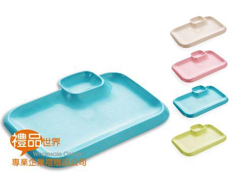 小麥長型帶碟日式餐盤