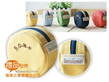 客製化圓形帆布零錢包