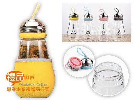 燈泡造型玻璃瓶420ml