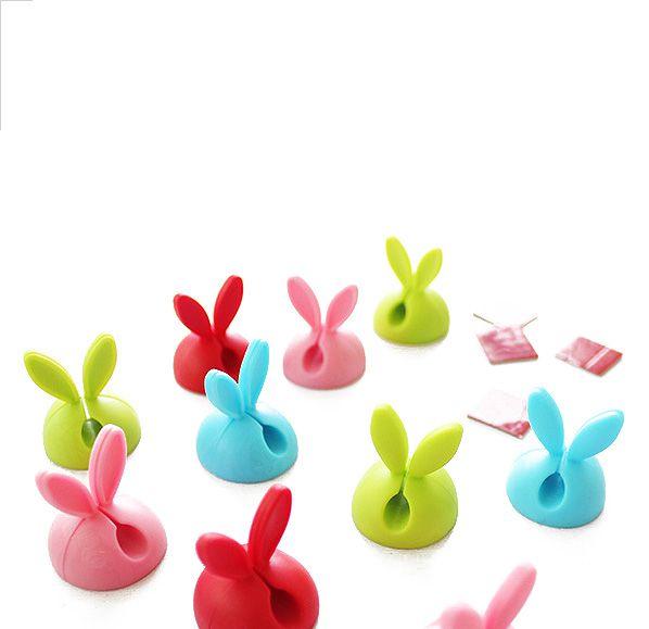 萌兔造型線材固定器(4入)