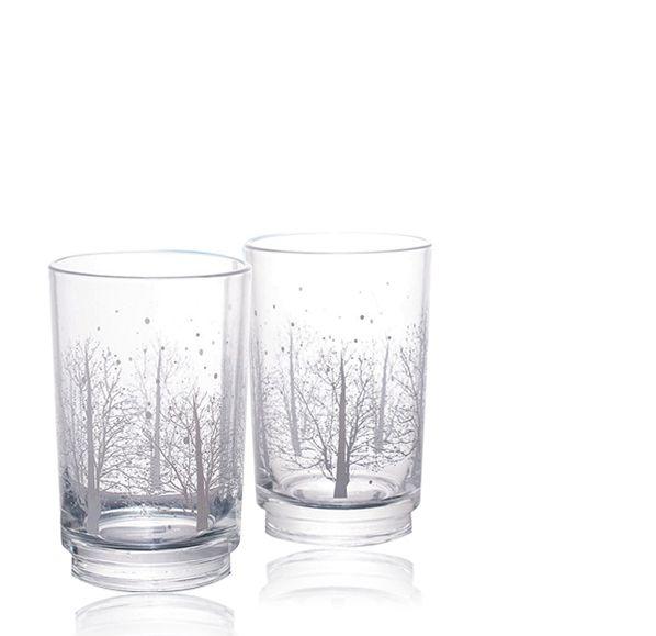 晶透雪花玻璃杯組(兩入)