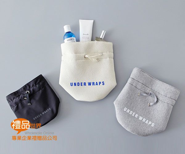 棉布圓筒化妝包