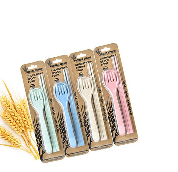 簡便小麥餐具三件組