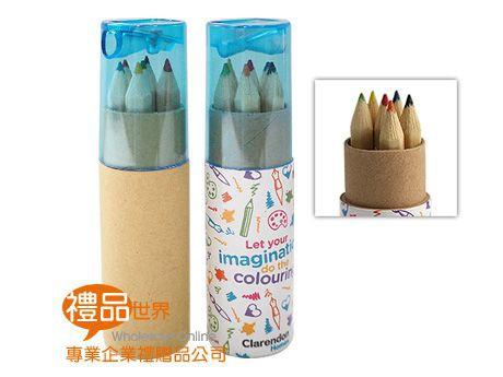 客製化彩印圓筒6色鉛筆