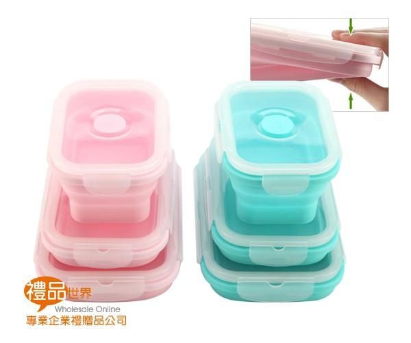 矽膠折疊收納保鮮盒(3入組)