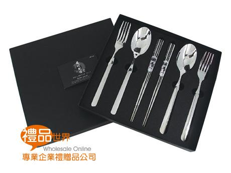 精湛316大叉匙筷6入禮盒