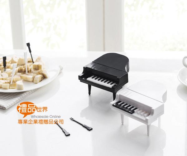 鋼琴造型水果叉