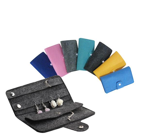 客製化粉彩毛氈布首飾包