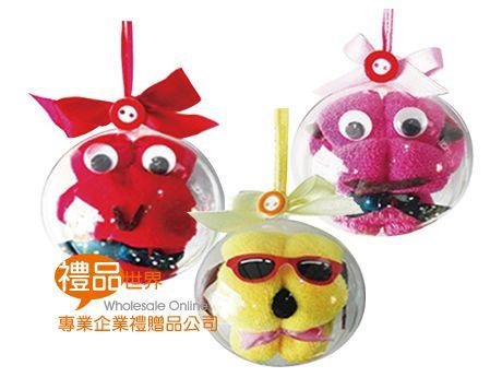 水晶球動物造型毛巾