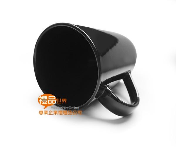 黑色心型耳馬克杯400ml