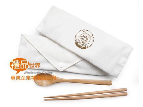 客製化帆布包木質餐具組
