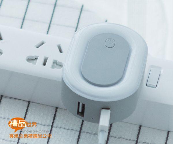 小夜燈雙USB充電器