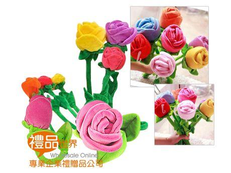 玫瑰花絨毛玩具