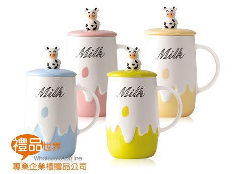 浮雕牛奶馬克杯