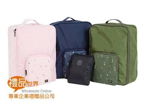 摺疊雙肩背行李拉桿包