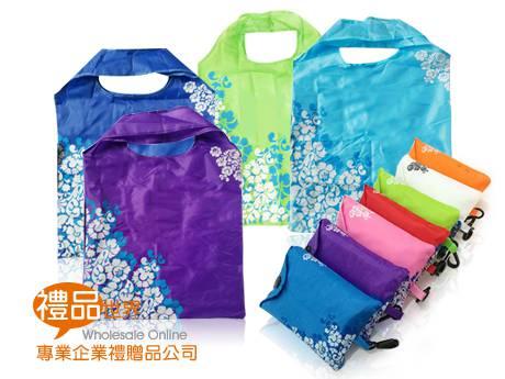 青花風格折疊購物袋
