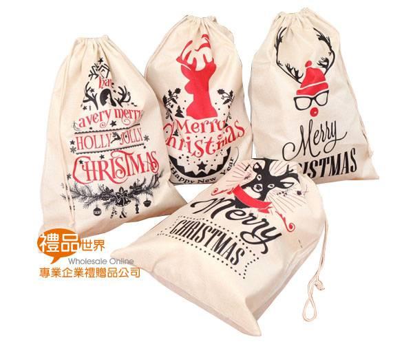 聖誕麻布束口袋