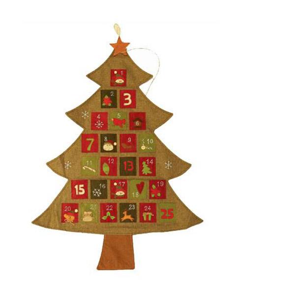 聖誕樹麻布掛曆