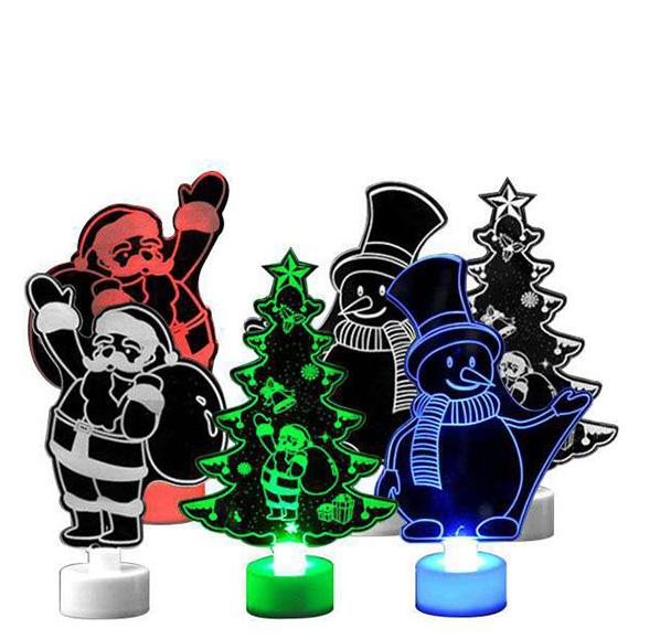 聖誕七彩小桌燈