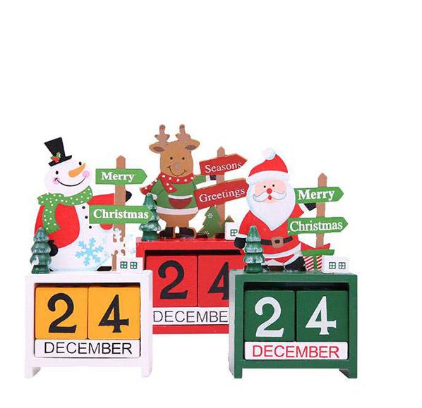 聖誕系列木質萬年曆