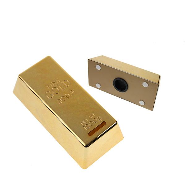 創意金磚存錢筒
