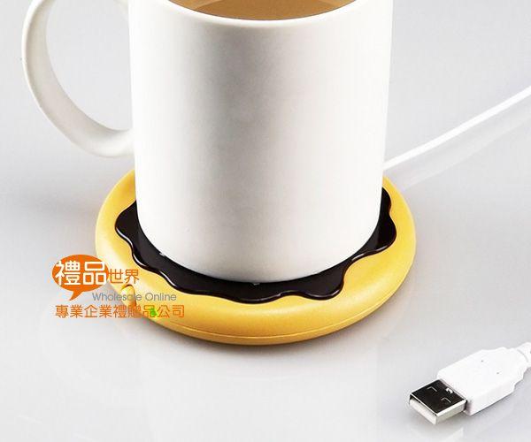 甜甜圈造型USB保溫杯墊