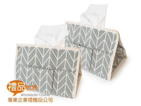 棉麻布紙巾收納盒