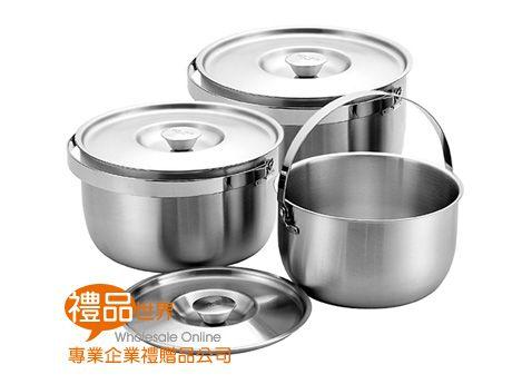 316不鏽鋼手提調理鍋3入組