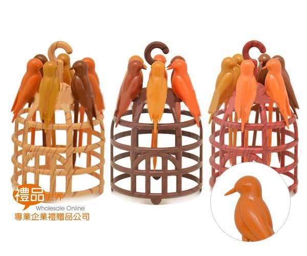鳥籠造型水果叉組