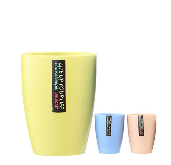 粉漾春色彩陶杯(單入)370ml