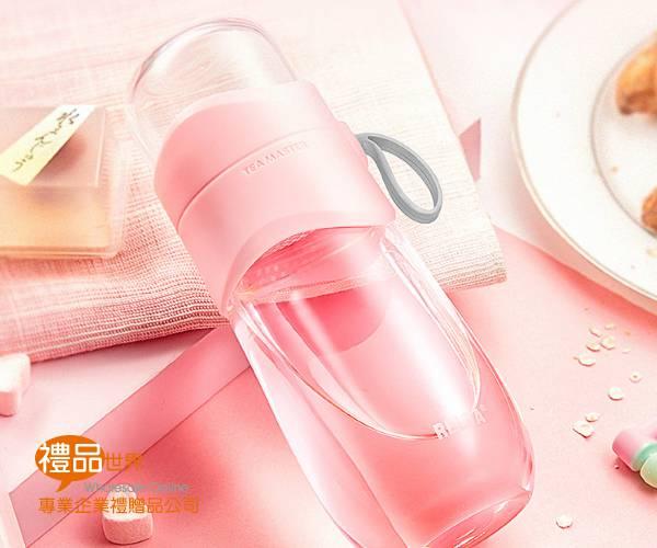 質感泡茶濾網玻璃瓶330ml