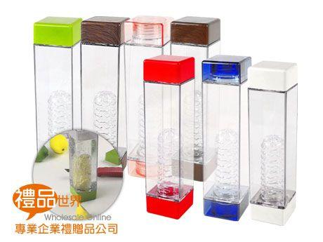雙蓋方形濾茶隨手瓶480ml