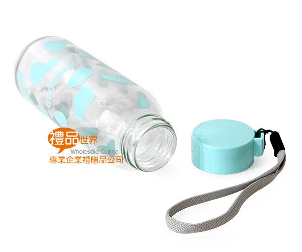 可愛乳牛玻璃隨手瓶300ml