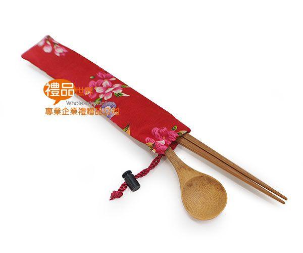 花繪束口筷袋組