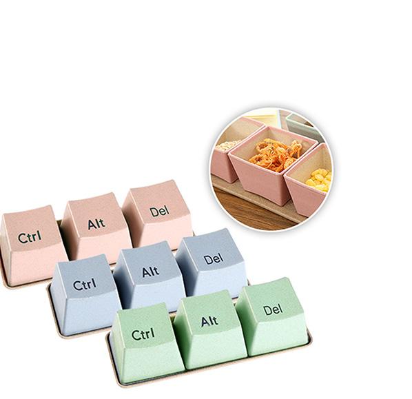 小麥鍵盤造型方杯三入組