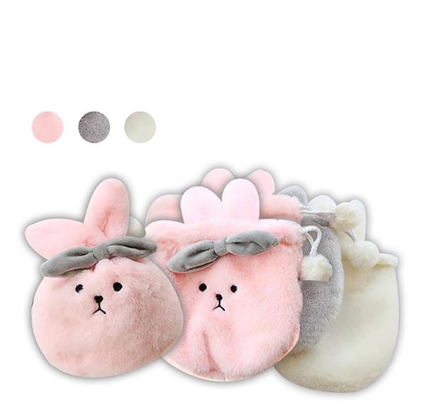 毛萌兔造型束口袋